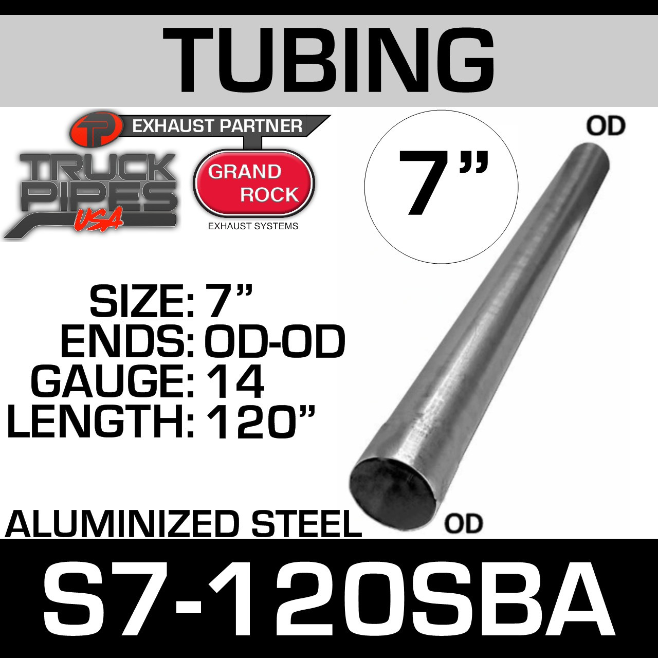 """3/"""" inch OD ALUMINIZED STEEL 5/' Foot long STRAIGHT EXHAUST PIPE"""