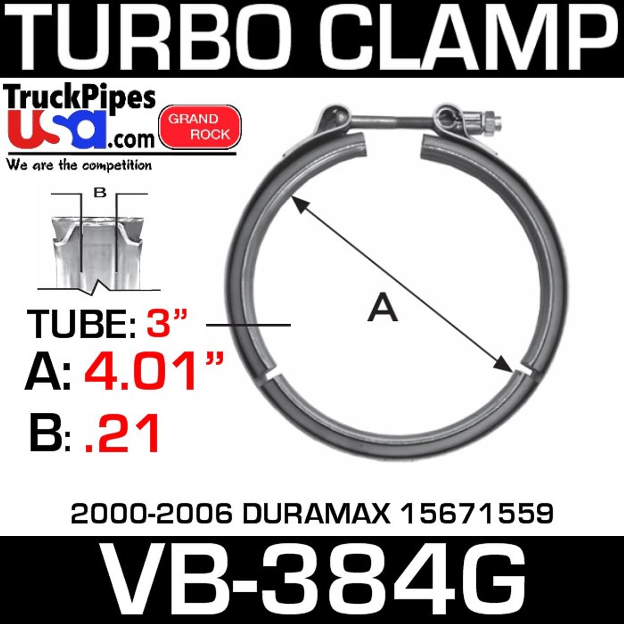 15671559 Turbo V-Clamp 2000-2006 DURAMAX VB-384G