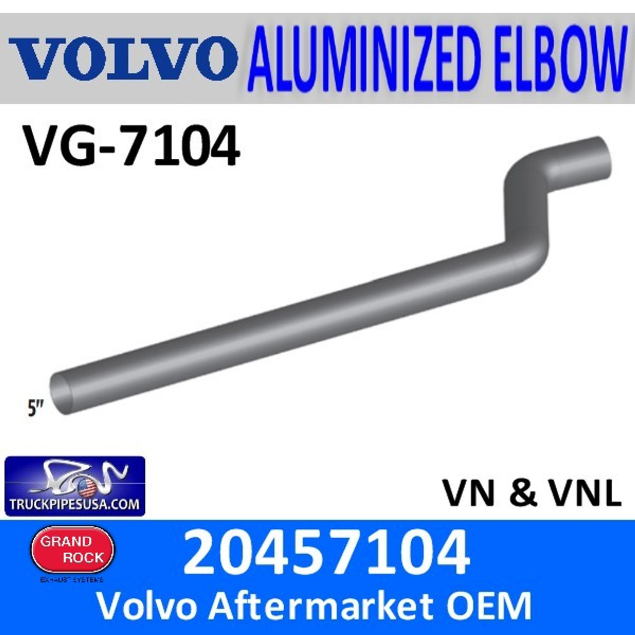 "20457104 Volvo 84"" Long Exhaust Pipe VG-7104"