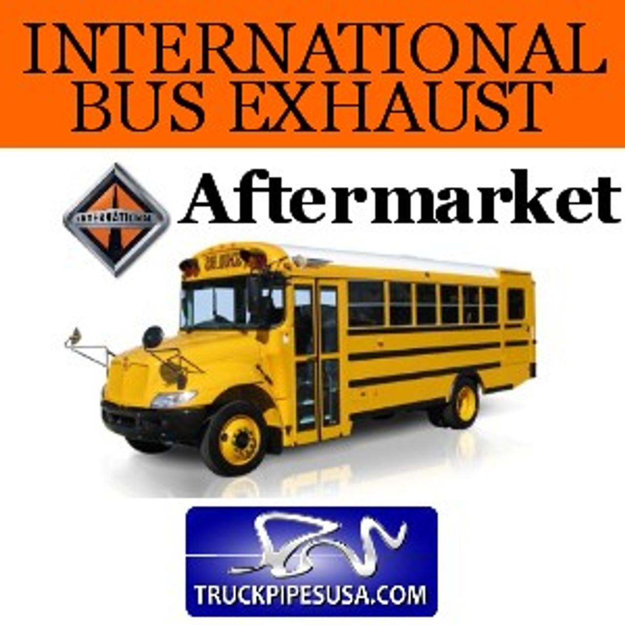 "SB7-8230IH-2 International Bus Pipes 3 Bend 3.5"" OD Flare Flat ALZ"