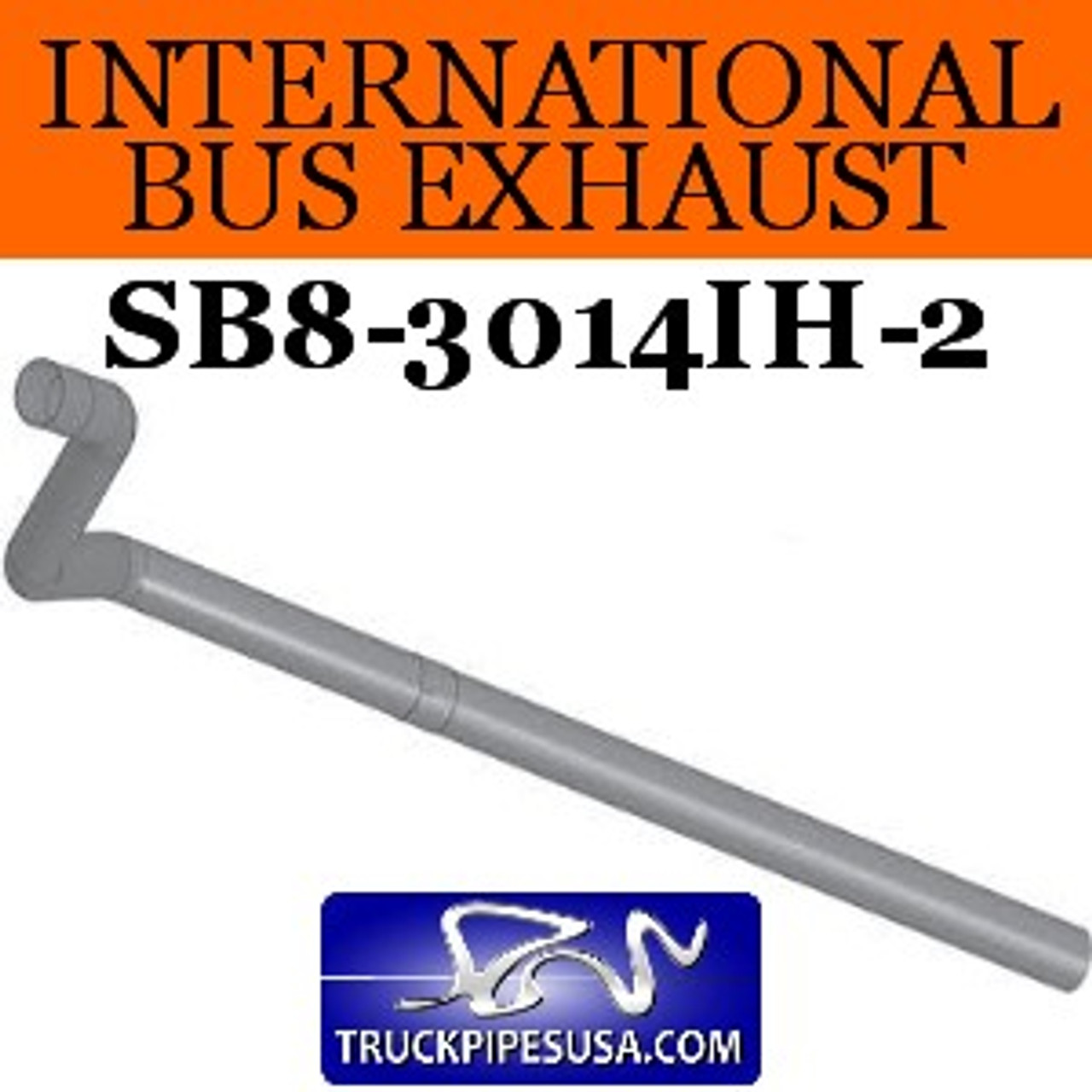 "1610299C3 2pc International Bus Pipe 3 Bend 4"" ID-OD ALZ"