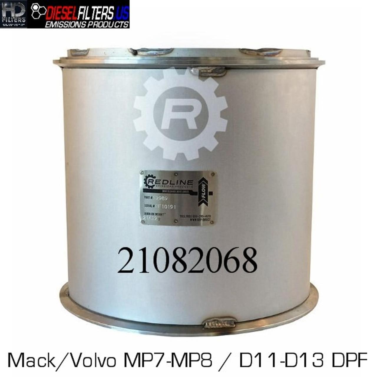 21082068 Mack/Volvo MP7/MP8-D11/D13 DPF (RED 52989)