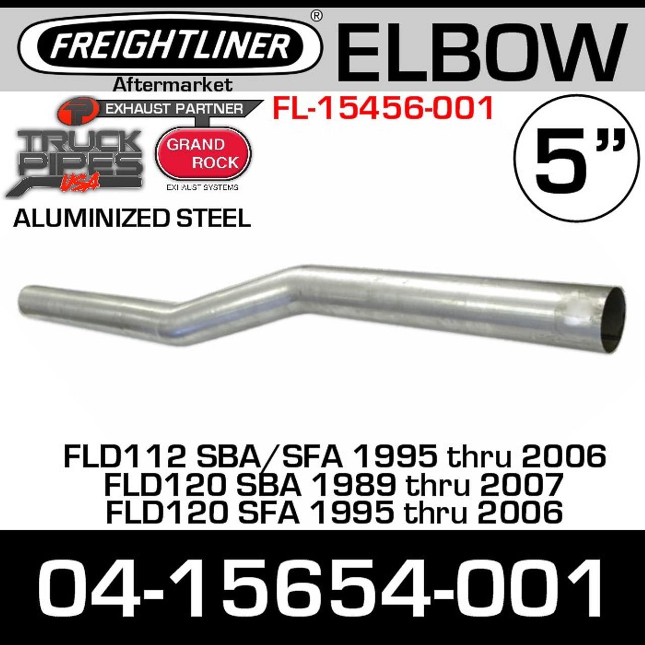 """04-15654-001 Freightliner 5"""" Long Exhaust Elbow FL-15654-001"""