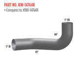 KENWORTH Aluminized Elbows
