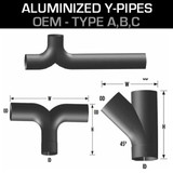 Aluminized Y-Pipes