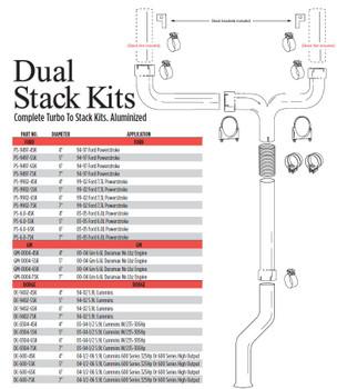 """GM-0004-5SK GM-0004-5SK 2000-2004 GM 6.6L Duramax 5"""" Dual Stack Kit"""