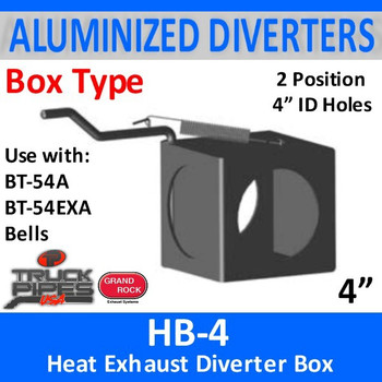 HB-4 2 Position Heat Exhaust Diverter Box 4""