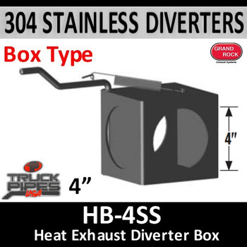 "HB-4SS 2 Position Exhaust Diverter Box 4"" 304 Stainless Steel 4"" ID Holes"