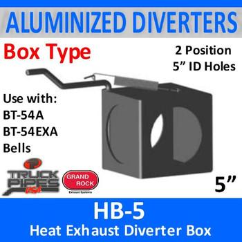 "HB-5 Exhaust Diverter 2 Position Exhaust Heat Box 5"""