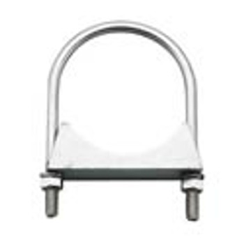 "HD-4ZN 4"" Round Bolt Double Saddle Exhaust Clamp Zinc HD-4ZN"