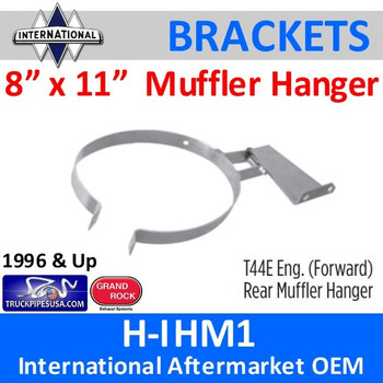 "1660540C1 T44E 8"" x 11"" Rear Muffler Hanger International"