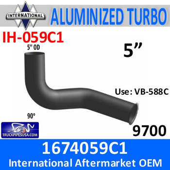 IH-059C1 167059C1 International Turbo Exhaust Elbow IH-059C1
