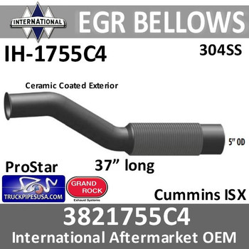3811755C4 International EGR Turbo Bellows pipe IH-1775C4