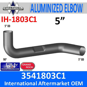 3541803C1 International Exhaust Elbow with Flat Area IH-1803C1