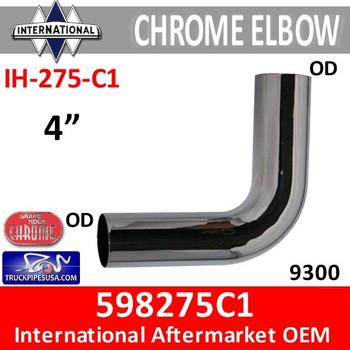 "598275C1 International Chrome 4"" Exhaust Elbow IH-275-C1"