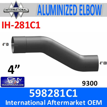 IH-281C1 598281C1 International 9300 Exhaust Elbow Pipe IH-281C1