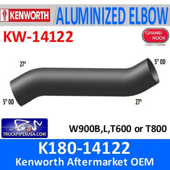 K180-14122 Kenworth Exhaust Double 27 Degree Bends