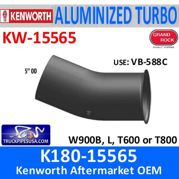 "K180-15565 Kenworth Turbo with Pyro Exhaust 5"" OD"