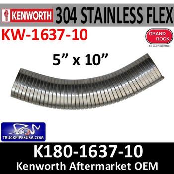 """K180-1637-10 Kenworth 5"""" Flex Exhaust Pipe"""