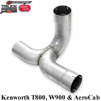 K180-5AEY Kenworth Early Single Muffler Aero kit Y-Pipe