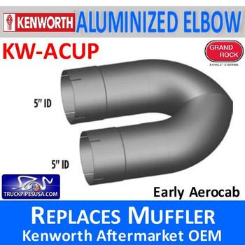 "KW-ACUP Kenworth 5"" Aerocab Muffler Delete U-Pipe"