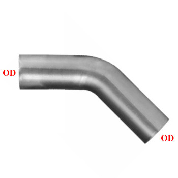 "3.5"" 45 Degree Exhaust Elbow 9"" x 9"" OD-OD Aluminized L3545-0909SA"