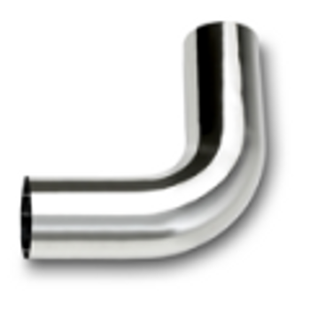 "L490-0808SC 4"" Chrome Exhaust Elbow 90 Degree 8"" x 8"" OD-OD"