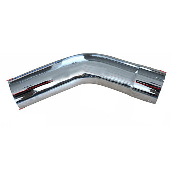 "5"" 45 Degree Exhaust Elbow 12"" x 12"" ID-OD Chrome L545-1212C"