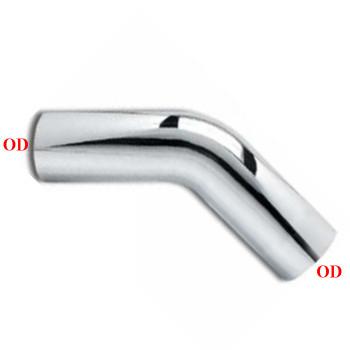 """6"""" 45 Degree Exhaust Elbow 15"""" x 15"""" OD-OD Chrome L645-1515SC"""
