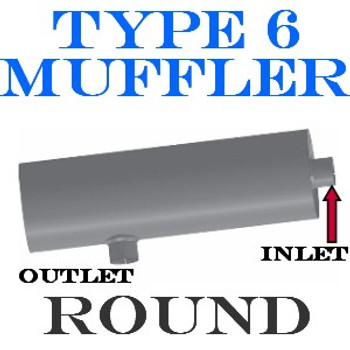 """M-010 Universal Truck Muffler 12"""" x 36"""" 5"""" OD - IN-OUT M-010 Type 6"""