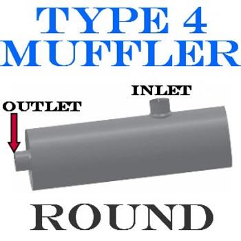 "M-034 M-034 Type 4 Muffler Bluebird-GMC Bus 4 IN-OUT 11"" Round 36"" long"