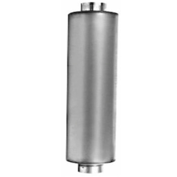 """M-087 Type 1 Muffler for Freightliner Bus 11"""" x 36"""" 4"""" IN-OUT"""