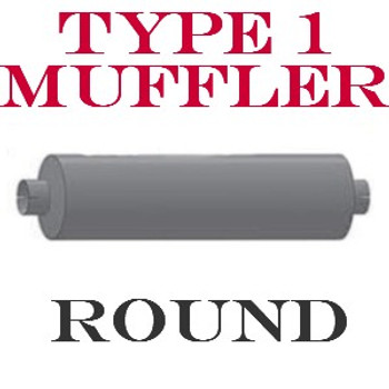 """M-102 M-102 Type 1 Muffler 9"""" x 44.5"""" Body 5"""" IN-OUT 51"""" Overall"""