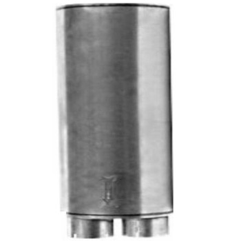 "M-121L6 Oval Muffler 10"" x 15 44"" Body 5"" Inlet 6"" Outlet"