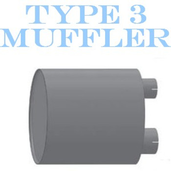 """M-124 M-124 Type 3 Oval Muffler 12"""" x 15"""" x 30.3"""" Long 4"""" IN - 5"""" OUT"""