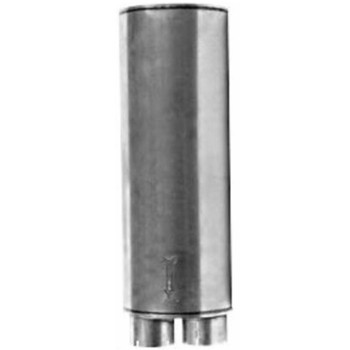 """Oval Muffler 12"""" x 15"""" x 30.3"""" Long 4"""" IN - 5"""" OUT"""