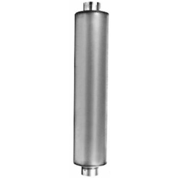 """M-127 Type 1 Muffler 8.5"""" Round 4"""" Inlet-Outlet for Mack R Model"""