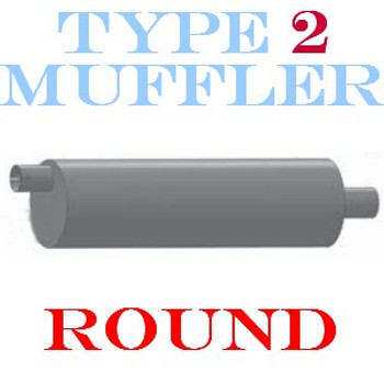 """M-139 M-139 Type 2 Muffler 8.5"""" Round x 31"""" 3"""" IN-OUT"""
