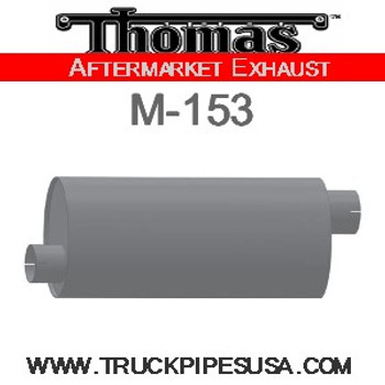 "M-153 Type 2 Oval Muffler 8.25"" x 11.5"" x 27"" 4"" IN-OUT"