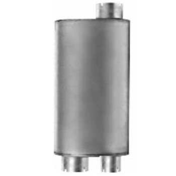 """M-185 Type 2A Oval Muffler 8.25"""" x 11.5"""" x 27"""" - 2.75"""" IN-4"""" OUT"""