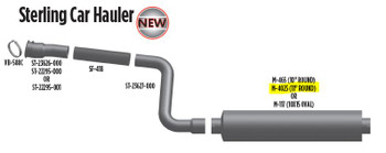 """M-4025 M-4025 Type 2 Ford or Sterling Muffler 11"""" x 36"""" 5"""" IN-OUT"""