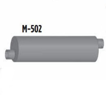 "M-502 M-502 Type 2 Muffler for Ford 11"" Round x 36"" long 4"" In-Out"