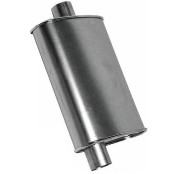 """M-518 Type 2 Muffler 6"""" Round x 26"""" 2.5"""" IN-OUT"""