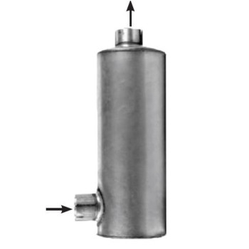 """M-526 10"""" Round Muffler for GMC Brigadier and Astro 5"""" IN-OUT"""