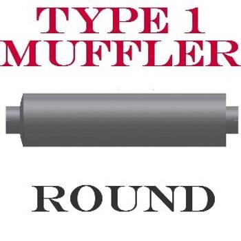 """M-557-0 Type 1 Muffler 9"""" x 34"""" Peterbilt 379 Extended Hood Low Restriction"""