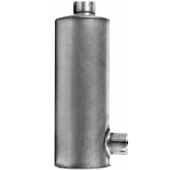 """Round Muffler 11"""" x 36"""" 4"""" IN-OUT"""