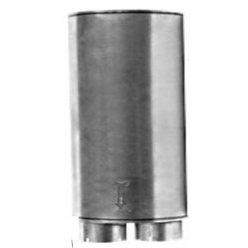 """M-755 Type 3 Oval Muffler 8.25"""" x 11.5"""" x 32"""" 3.5"""" IN-4"""" OD OUT"""