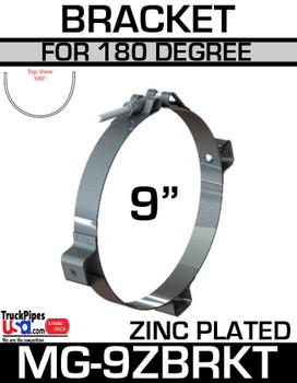 "9"" Zinc Plated Bracket for 180 Shield MG-9ZBRKT"