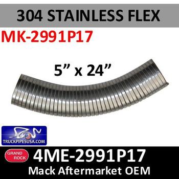 "4ME-2991P17 Mack Flex Exhaust 5"" x 24"" MK-2991P17"