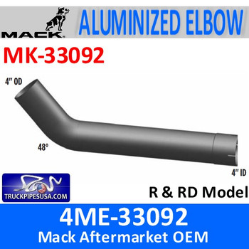 MK-33092 4ME-33092 Mack 48 Degree Elbow Exhaust Part MK-33092